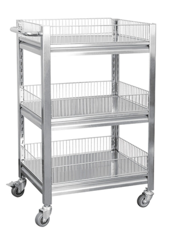 Stainless trolly  with casters
